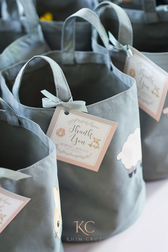 pottery barn themed party label