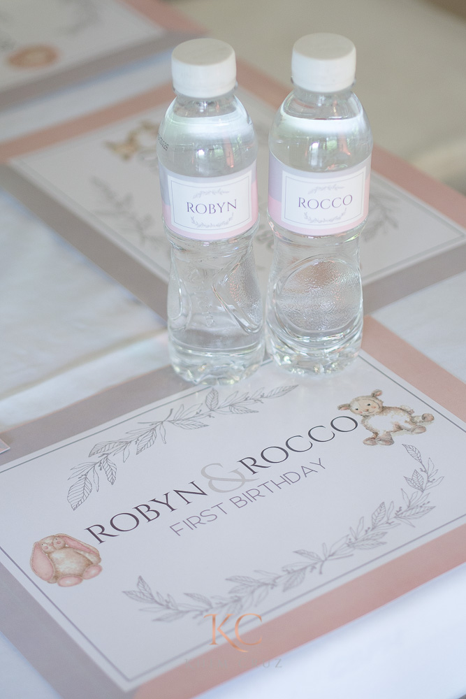 pottery barn themed party placemat water