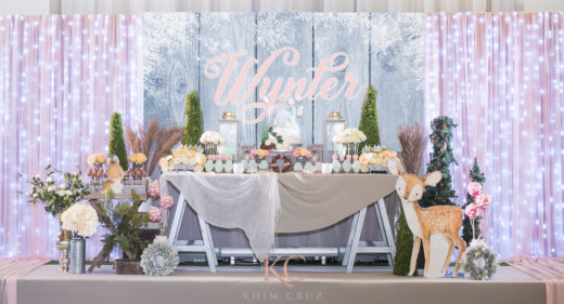 winter rustic baptism dessert table decor styling davao