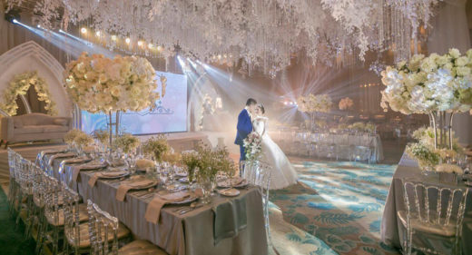 wintry theme elegant and intimate wedding decor styling reception by Khim Cruz