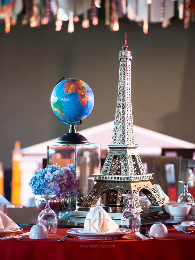 World Travel Themed Table Centerpiece Kids Party Globe Eiffel Tower