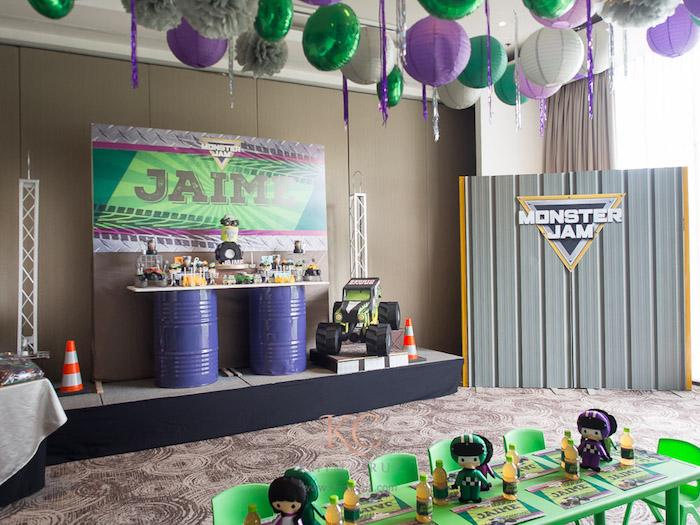 Monster Truck Monster Jam Birthday Party Kara S Party Ideas Khim